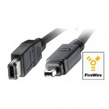 � FireWire Cable 6FT IEEE 1394 iLink DV Video 6 Pin to 4 Pin ¤ PC & MAC ¤ NEW �