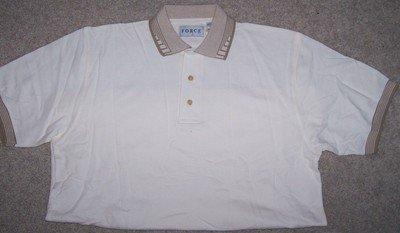 Men's XXL 2XL Polo style GOLF shirt creme