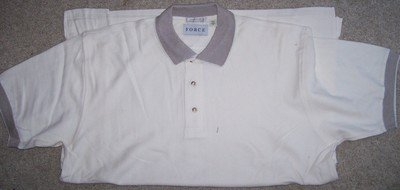 Mens Short Sleeve Polo Style GOLF Shirt XL Creme