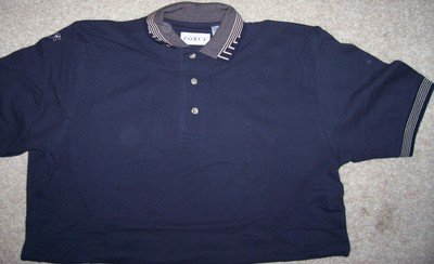 Mens Short Sleeve Polo GOLF Shirt Size Med Dark Blue