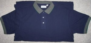Mens Size Large Dark Blue Polo Style Golf Shirt