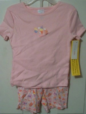 Girls Pink Toddler 5T Summer pajamas