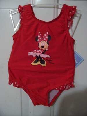 Girls Minnie Mouse Bathing Suit Size 18 months
