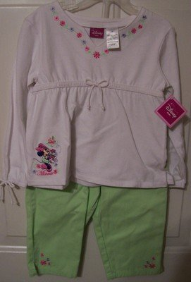 Girls Disney Kids Minnie Mouse Capri Outfit Size 4T