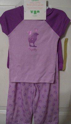 Girls Carter's 3 piece pajamas 2T
