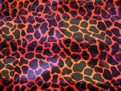 Red Animal Print Scarf