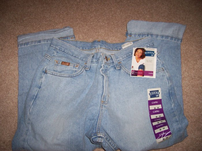 BRAND NEW Size 6 M Lee Rider Jeans Capri Cabana Blast