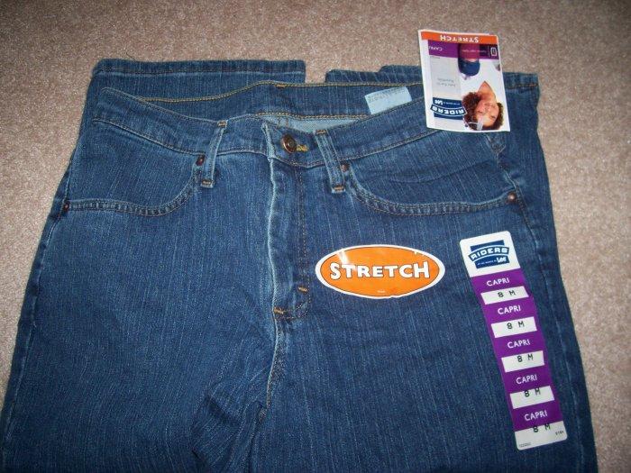 BRAND NEW Size 8 M Lee Rider Jeans Capri Jade
