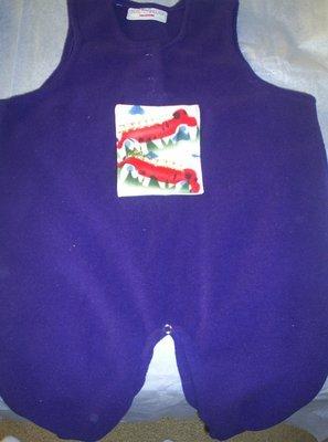 Toddler Boy Firetruck Fleece Overalls Size 18 Months