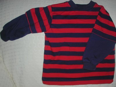 Toddler Boys Gently Used  Long Sleeved Red Blue 18 months