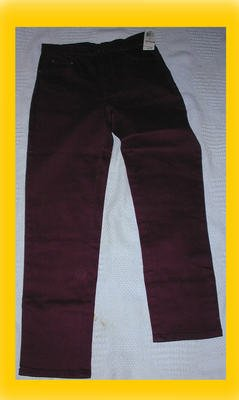 Women's Style and Co Stretch Jeans Size 6 Cranberry Grape