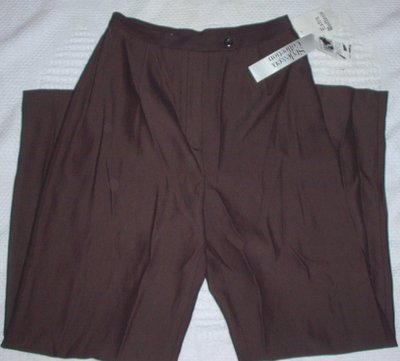 Petite Black Copper Twill  Dress Pants Size 6 Petite