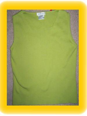 Saint Patrick's Day Pierre Cardin Green Knit Sleevelss Tank Shell Size Medium