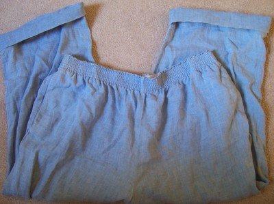 Easter Women's Jones of New York Gently Used Linnen Pants Light Blue XL