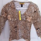 FREE SHIPPING!! Junior Safari Cheetah Animal Print Size Medium