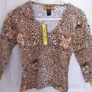 FREE SHIPPING!! Junior Safari Cheetah Animal Print Size Medium