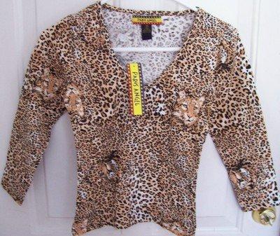 FREE SHIPPING!! Junior Safari Cheetah Animal Print Size Large