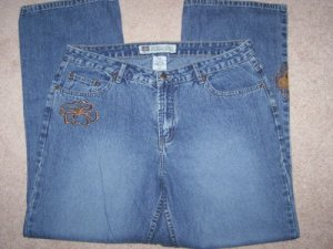 FREE SHIPPING!!  Embroidered Jeans Size 26W BRAND NEW