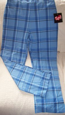 FREE SHIPPING TRENDY Spring Plaid Pants Size 7