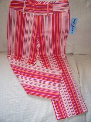 FREE SHIPPING TRENDY Girls Stripe Pant Size Medium