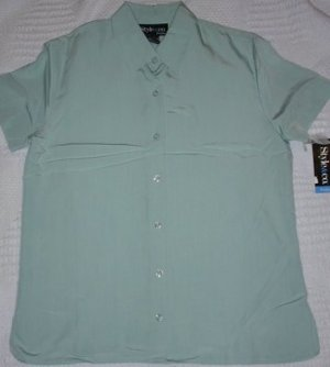 FREE SHIPPING Style and co Petite Size 2P Shirt Mint Green