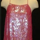 FREE SHIPPING Fun Sequin Shirt, Pink, Size 10