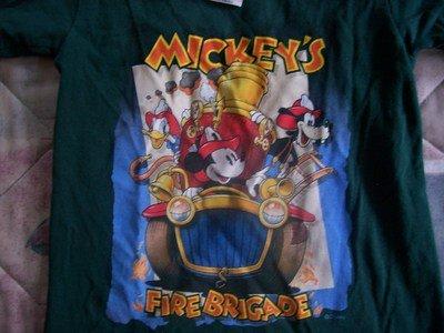 FREE SHIPPING DISNEY STORE Tshirt XX Small Dark Green Mickey Gently Used