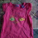 FREE SHIPPING!! Girls Size 4T Embroidered Tshirt Pink Fish