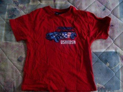 FREE SHIPPING Gently Used Red oshkosh Boys 3/3T Tshirt