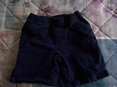 FREE SHIPPING!!!  Gently Used Boys 2T Elastic Waist Shorts Dark Blue