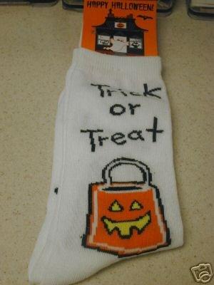 FREE SHIP BRAND NEW Halloween Socks Trick Or Treat