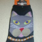 FREE SHIP BRAND NEW Halloween Socks Grey Cat