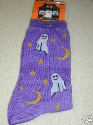 FREE SHIP BRAND NEW Halloween Socks Purple Ghost