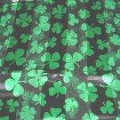 St Patrick's Day Black Shamrock Scarf 20 x 20