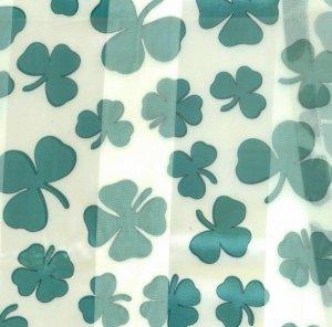 St Patrick's Day White Shamrock Scarf 20 x 20