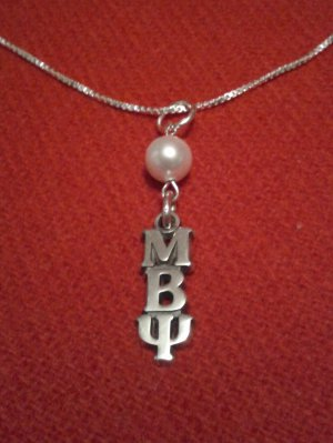 "Lavaliere with Crystal or Pearl and 16"" Chain"