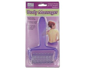 Plastic rolling body massager
