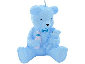 Blue bear candle
