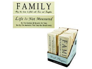 Inspirational Wall Plaques Counter Top Display
