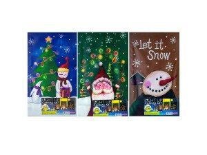 Christmas light up wall art 3 assorted