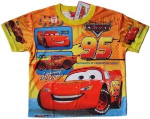 DISNEY CARS YELLOW T-SHIRT OFFICIAL Age 3-4 S