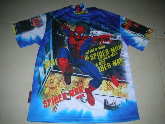 NEW BOYS SPIDERMAN 3 T-SHIRT IN BLUE AND RED ANY SIZE