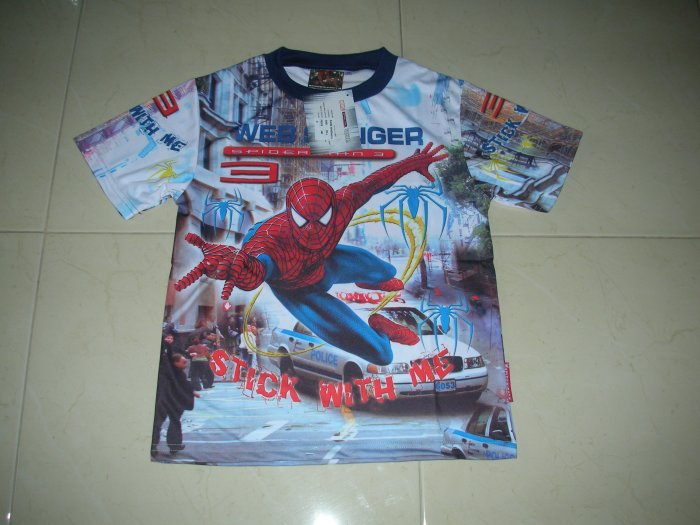 SPIDERMAN 3 BLUE AND WHITE T-SHIRT ANY SIZE