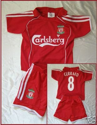 LIVERPOOL HOME SOCCER FOOTBALL KIDS SET S-XXL