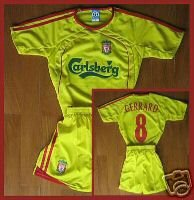LIVERPOOL AWAY KIDS FOOTBALL KIT SOCCER CHILDRENS   S-XXL