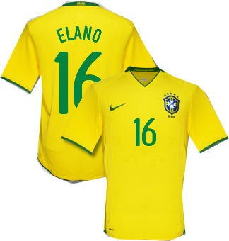 BRAZIL HOME  FOOTBALL SHIRT XL FREE NAME&NUMBER