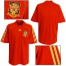 SPAIN HOME  FOOTBALL SHIRT XL FREE NAME&NUMBER