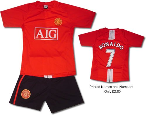 MAN UTD HOME KIDS Football kit Soccer shirt ChildrensS-XXL