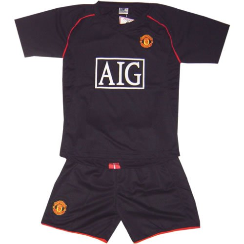 MAN UTD AWAY  FOOTBALL KIDS SET FREE NAME&NUMBER S-XXL