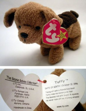 Ty Beanie Baby Tuffy the Dog Terrier